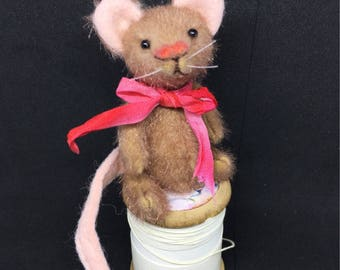 Tina - One of a Kind Miniature Artist Bear - Mouse