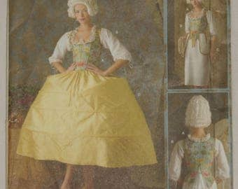 Marie Antoinette 18th Century Sewing Pattern Simplicity 3635 Stays Corset Chemise Pockets Period Costume Historical Georgian Clothing