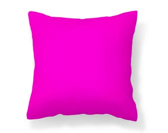 Pink Outdoor Pillow /UV Resistant Pillow / Magenta Pillow / Mildew Resistant Pillow / Patio Pillow / Outdoor Cushion / Water Resistant