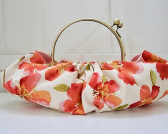 Spring Flower Bag, Kiss Lock Frame, Japanese Style Bag