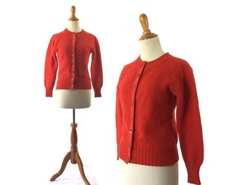 Red cardigan | Etsy