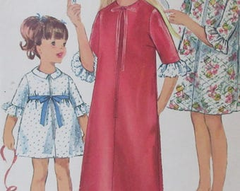 Vintage 1966  Simplicity Pattern  #6814 Girls Robe in Two  lengths Size 14