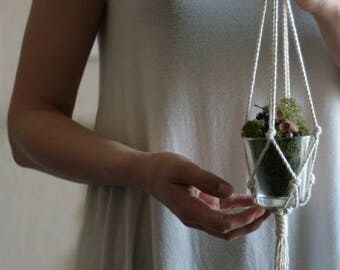 Succulent Hanging Planter - Small Hanging Planter - Succulent Hanging - Macrame Plant Hanger - Indoor Planter - Modern Macrame - Hygge Decor