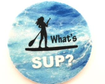 SUP car coasters for your cup holder, What's SUP? cup holder coasters - Free Shipping-Makes a great gift - Car Beverage Cup Holder Coasters