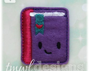 Book Diary Feltie Digital Design File - 1.75""