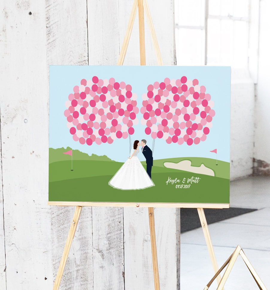 Golf Course Wedding Guest Book Alternative For Golf Course