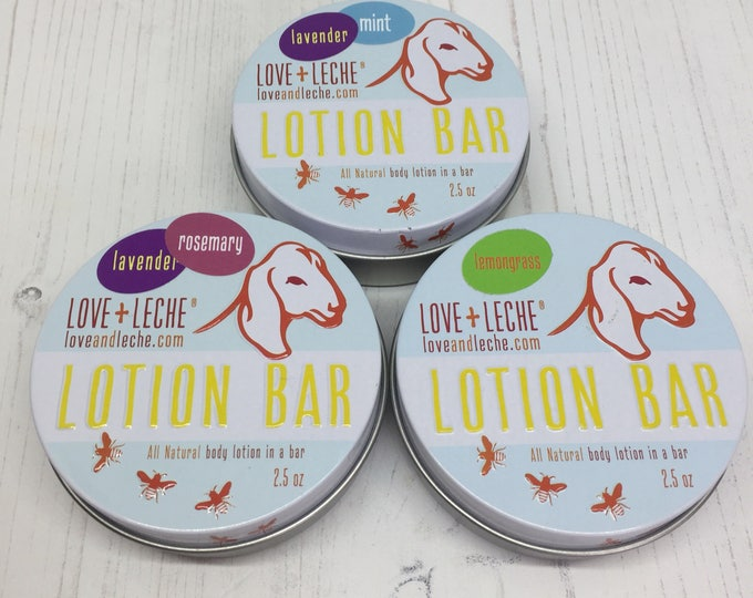 Love+Leche Lotion Bars in various different scents - 2.5oz tin of gorgeous ness