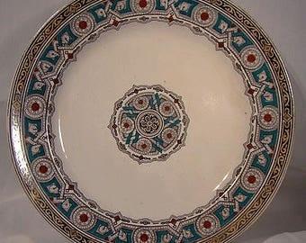 "Bates Walker & Co. CLOVIS 9030 Ironstone 9"" Luncheon Plate 1870s"