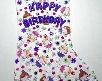 Fairies Birthday Stocking