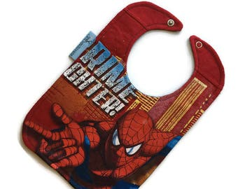 Spider Man Baby Bib • Baby Shower Gift • Spiderman Tshirt Bib