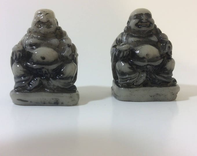Mini buddhas, vintage miniature pair of buddhas, perfect little pocket buddhas, vintage Buddhas,