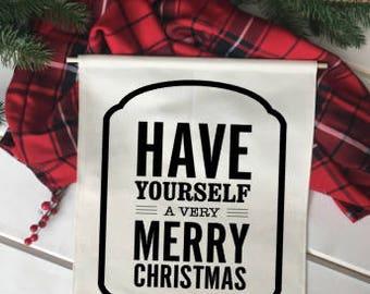 Have yourself a merry/ Christmas wall decor/ christmas decoration/ wall hanging/ farmhouse christmas/ christmas sign/ red black christmas