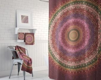 Boho Modern Shower, Boho Chic, Gypsy Shower Curtain, Boho Bathroom Decor, Bohemian Bathroom, Gypsy Chic Hippie, Bathroom Set