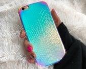 Iridescent Holographic Mermaid Unicorn iPhone Case, Hologram Case, Reflective Case, Rainbow Case, iPhone 7, iPhone 8, iPhone X Case
