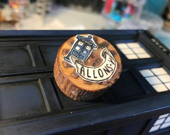 Doctor Who Wooden Handmade Pin