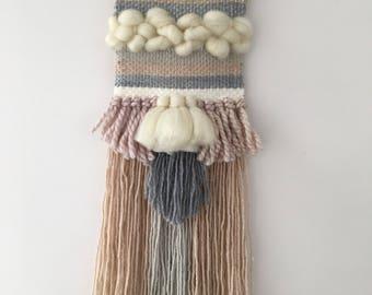 Weave Loom Wall Hanging Woven Pastels Tassels
