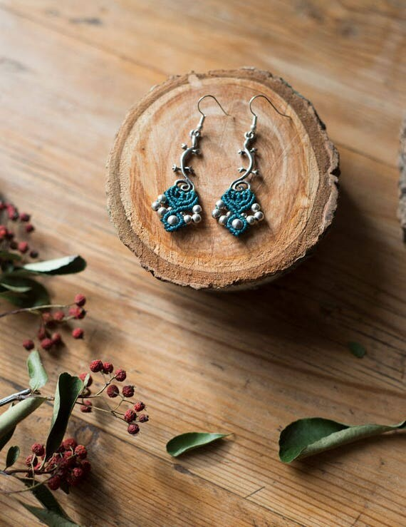 Lizard silver earrings