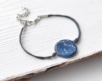 Scorpio bracelet Zodiac Constellation gift October birthday Horoscope Astrology jewelry Personalized Sign Unisex Circle Birthday Birth Sign