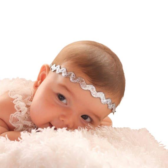 Silver Baby Headband, Silver Headband, Newborn Headbands, Headband Baby, Baby Headband, Infant Headbands, Halo Headband