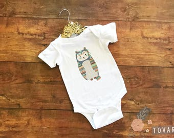 Tribal Owl Bodysuit - Tribal Owl Shirt - Owl Shirt - Custom Tribal Owl Bodysuit - Tribal theme bodysuit - Tribal shirt - tribal tee