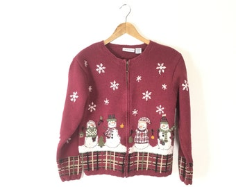Ugly Christmas Sweater, S M Tacky Christmas Sweater, small Christmas Sweater, Vintage Christmas Sweater, Mens, Womens, Christmas Jumper