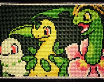 Pokemon Gen. 2 Cross Stitch Piece