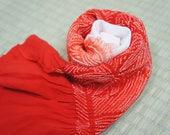 Vintage red white shibori...