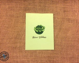 Lettuce Celebrate - Congratulations Greeting Card