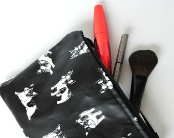 Make up bag with PUL / Waterproof /Dogs and Dotty
