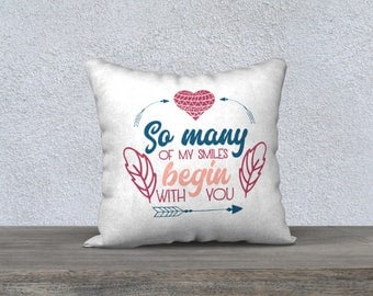 quote pillow cover cute quote pillow case cushion cover romantic pillow & Cute pillow cover | Etsy pillowsntoast.com