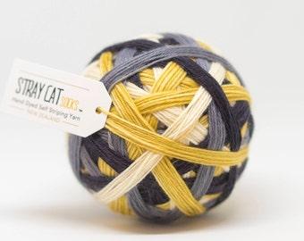 ANTICIPATION - hand dyed self striping sock yarn