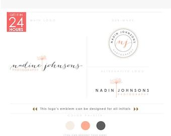 Photographer Dandelion 1, feminine golden Logo, feminine dandelion branding, feminine logo, gold dandelion, female photographer floral logo