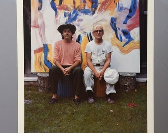 80s Poster PAUL McCARTNEY and WILLEM de KOONING 1984 Original Poster Photograph by Linda McCartney