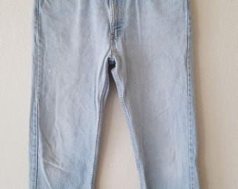 505 Levi Jeans 34x30 Denim 80s American Made USA Distressed Grunge