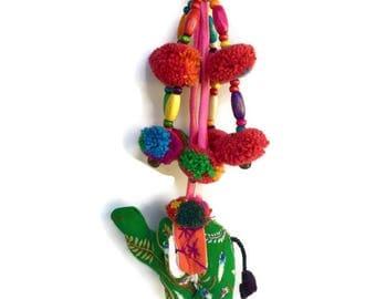 Elephant Pom Pom Zipper Pull / Key Chain Fair Trade - Thailand