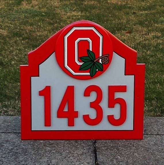 Ohio State Apartments: OHIO STATE Buckeyes Address Sign Custom Made For Home