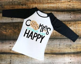 Girl Scout Shirt, T Shirt, Cookie Mom, Cookies Make Me Happy, Girl Scout Cookies, Troop Leader, Girl Scouts, Brownies, Cookies