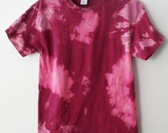 Tee Shirt, Tie Dye Tee Shirt, Pink Tee shirt, Acid Wash, Grunge, graphic, Rocker, Acid wash shirt, tie dye, retro, hipster, Valentines Gift