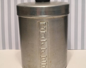 Vintage Aluminum Nasco Coffee Canister