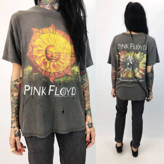 1994 PINK FLOYD Tour T-shirt Large - Holey Retro Distressed Band North American Tour Shirt - Pink Floyd Rock & Roll Shirt Grunge Holey Thin