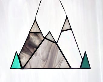Stained Glass Mountain Range (#336)