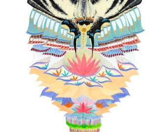 Pema Watercolour Print 'Goddess of Compassion'