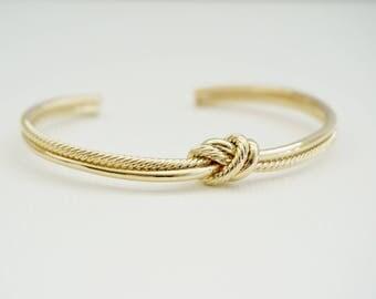 Double Love Knot Bangle Bracelet, Gold Love Knot Bracelet, Silver Love Knot Bangle, Pink Love Knot Bracelet, Wedding Jewelry