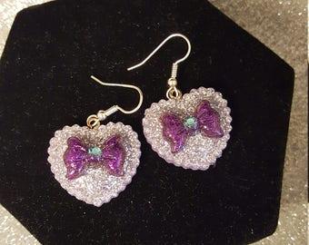 Retro Dangle Heart Earrings