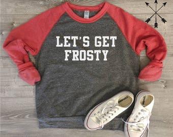 Let's Get Frosty Sweatshirt, Gameday Shirt, Football Sweatshirt, Game Day Sweatshirt, Football Saturday, Football, Scott Frost, Husker