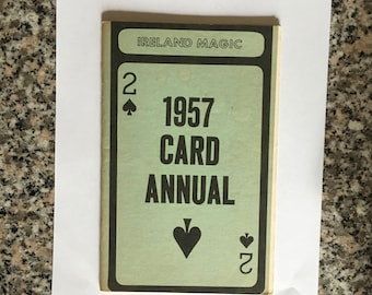 Vintage Magic Book: 1957 Card Annual from Ireland Magic/ 1958 Volume Two 1st Edition/ Magician's Estate