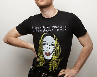 """Pete Burns """"Everything You Are Is Repugnant To Me"""" Black T-shirt"""