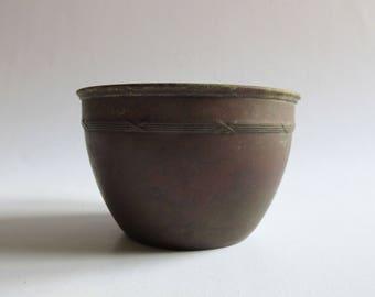 antique art nouveau copper bowl