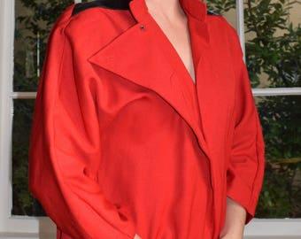 80's Cherry Red Dress