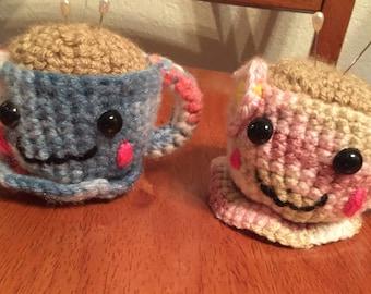 Crocheted Teacup Pincushion
